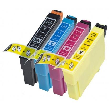 EPSON T1816 XL Pack de 4 Tinteiros Compatíveis